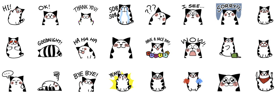 line stickers evacomics